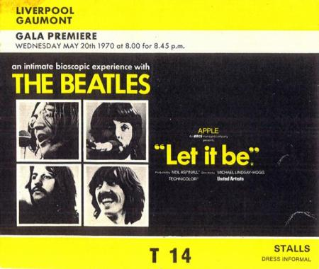 The Beatles Polska: Brytyjska premiera filmu Let It Be.