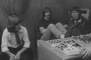 George, Ringo and Glyn at Savile Row, late January 1969